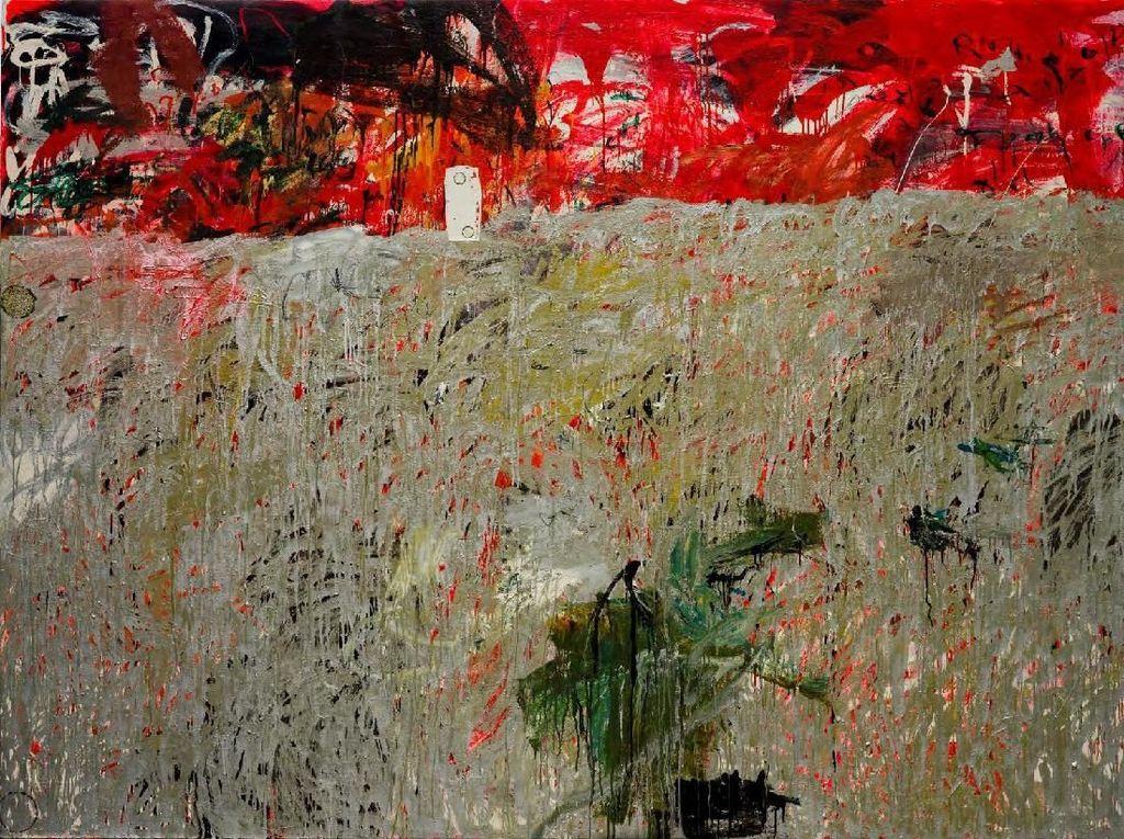 Lukisan Abstrak Ibrahim Dipajang di Gajah Gallery Yogyakarta