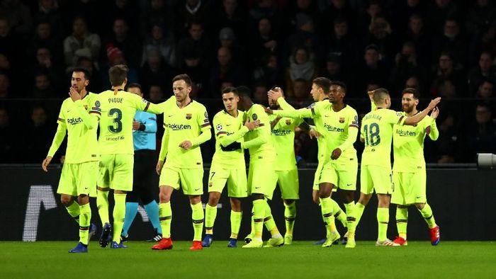 Pemain Barcelona di Liga Champions. (Foto: Dean Mouhtaropoulos/Getty Images)