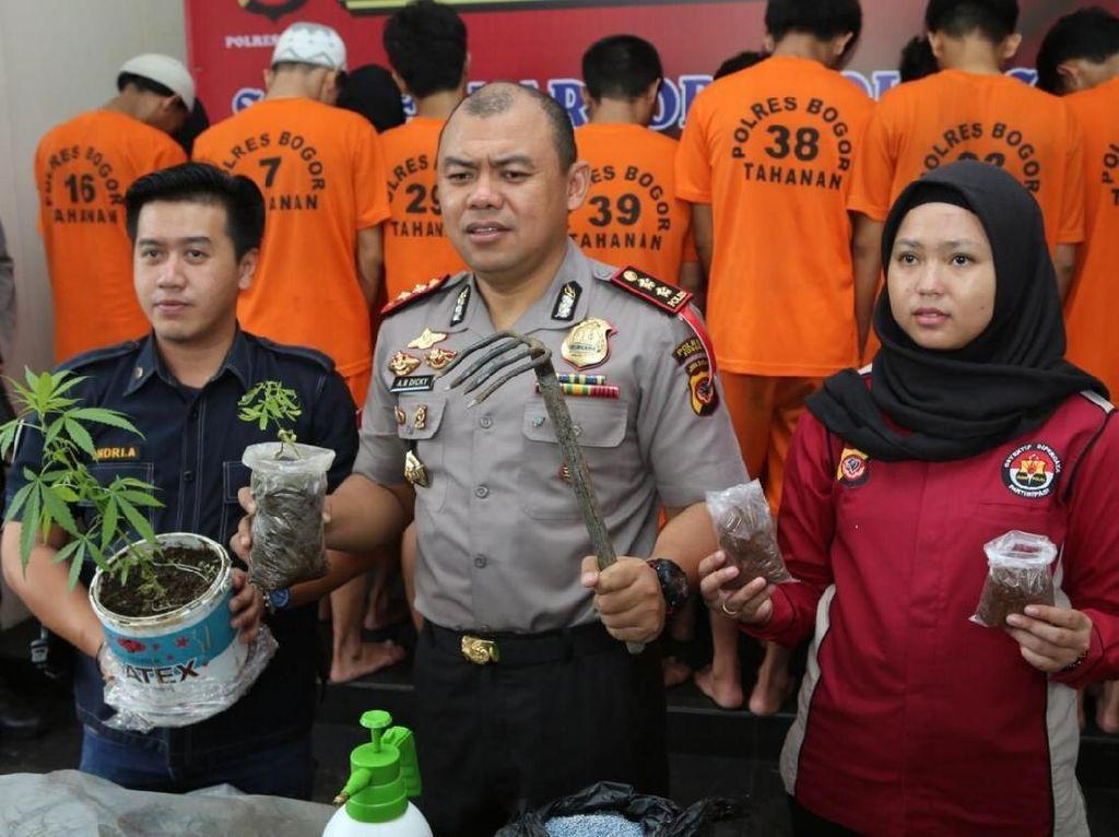 Operasi Antik Lodaya 2018, Polres Bogor Ringkus 40 Bandar Narkoba