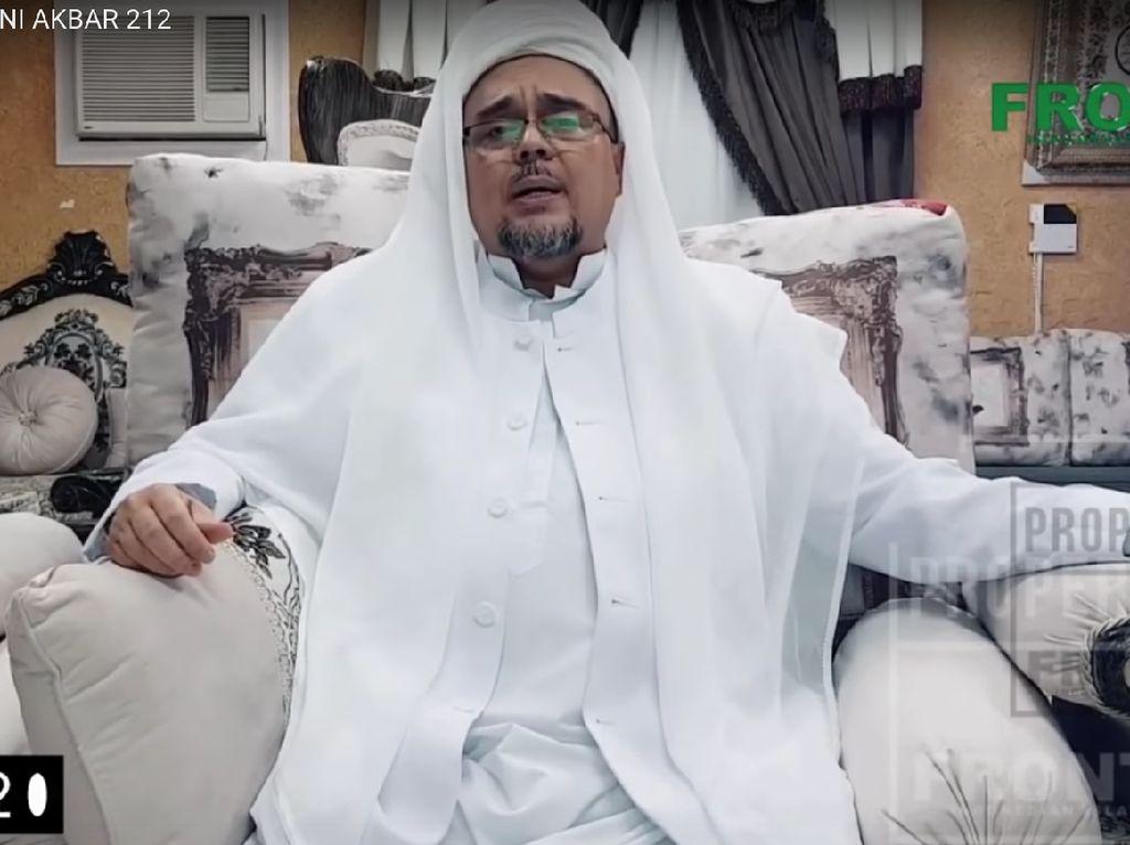 Habib Rizieq Bicara Kondisi Negara 5 Tahun Terakhir di Reuni 212