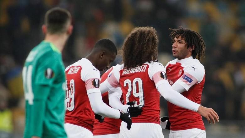 Hasil Liga Europa: Taklukkan Vorskla, Arsenal Pastikan Juara Grup