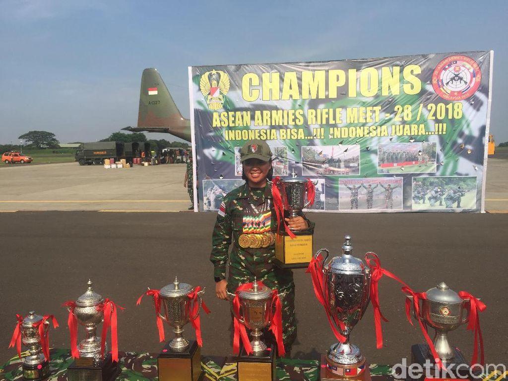 Sertu Pratiwi, Srikandi Juara Lomba Tembak TNI AD Se-ASEAN