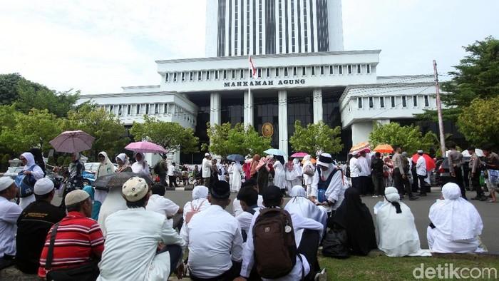 Demo Jemaah First Travel (Dok. detikcom)