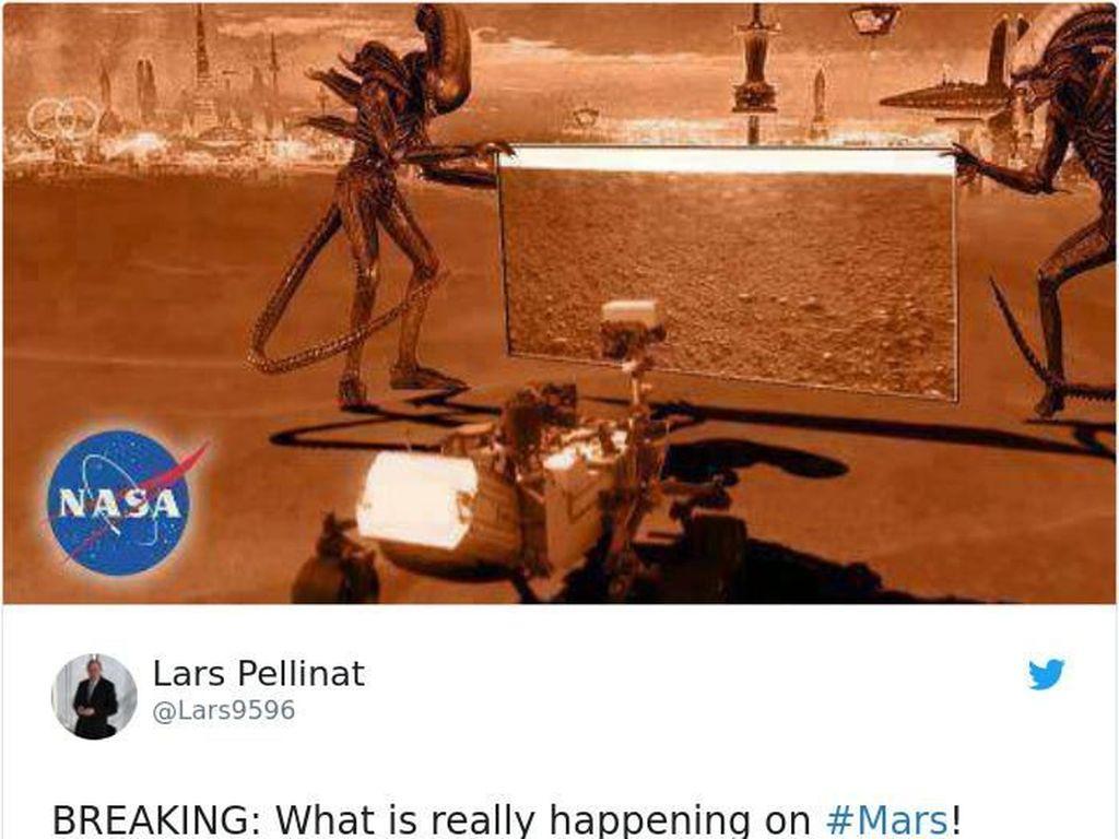 Meme Kocak Robot NASA Mendarat di Mars Didemo Alien