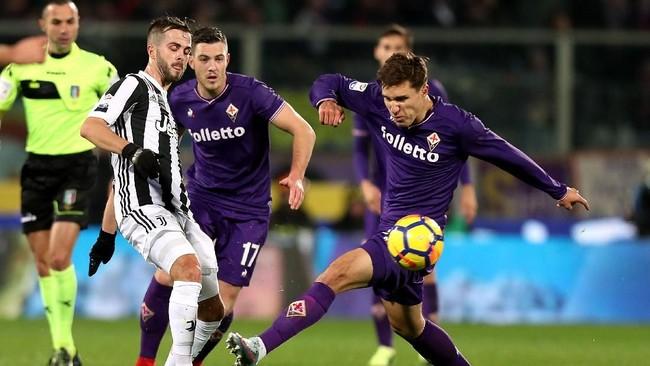 Fiorentina saat berhadapan dengan Juventus di Liga Italia. (Foto: Gabriele Maltinti/Getty Images