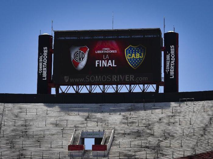 Leg kedua final Copa Libertadores antara River Plate vs Boca Juniors digelar di Santiago Bernabeu. (Foto: Marcelo Endelli/Getty Images)
