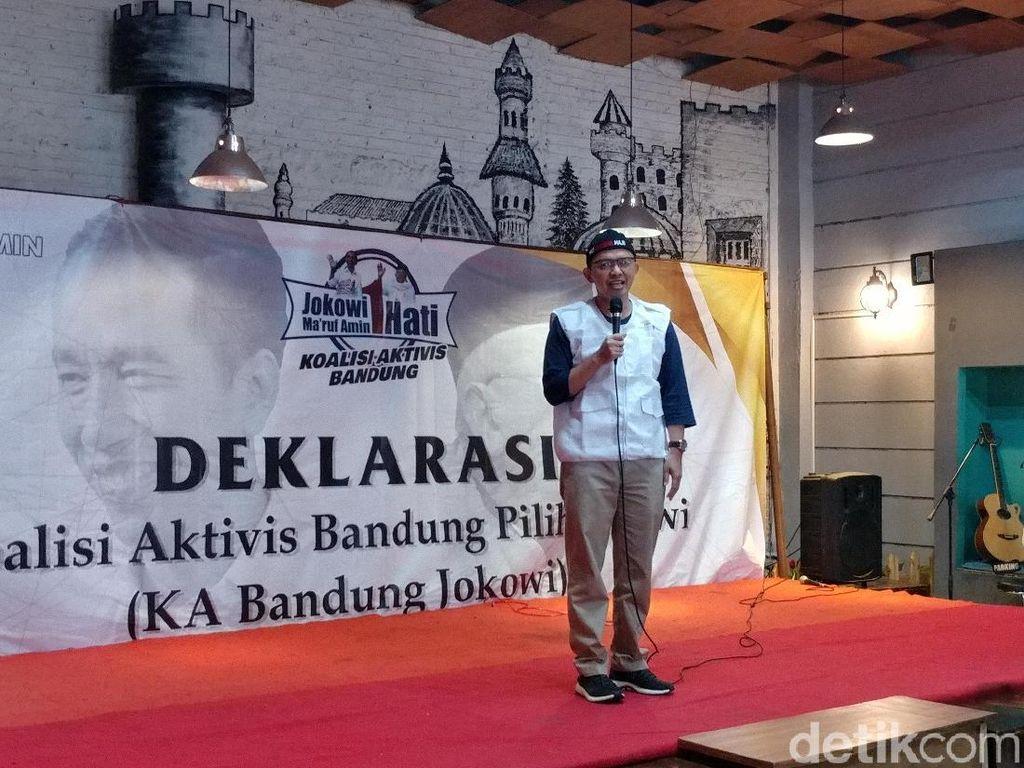 Aktivis Bandung Deklarasi Dukung Jokowi-Maruf di Pilpres 2019