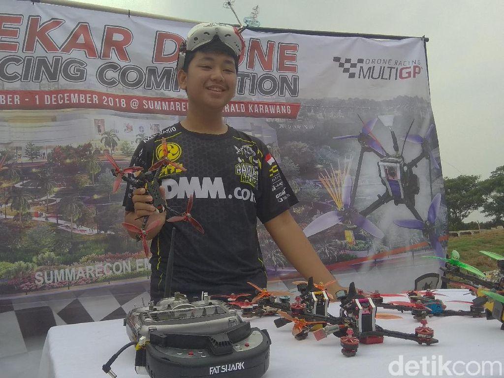 Serunya Nonton Atlet Internasional Balapan Drone di Karawang