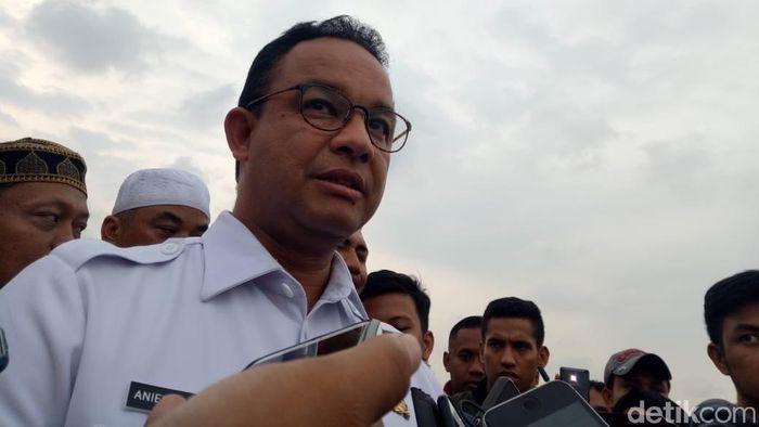Anies Baswedan akan menggelar nobar Persija vs Mitra Kukar di RT dan kelurahan (Muhammad Fida Ul Haq/detikcom)