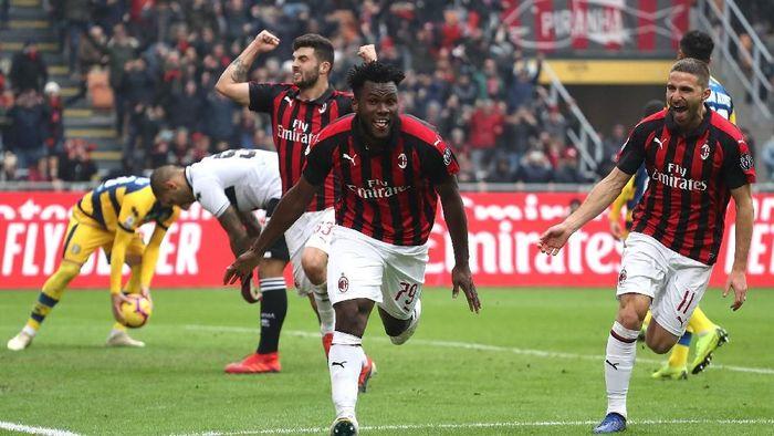 AC Milan kalahkan Parma 2-1 setelah tertinggal lebih dulu (Marco Luzzani/Getty Images)