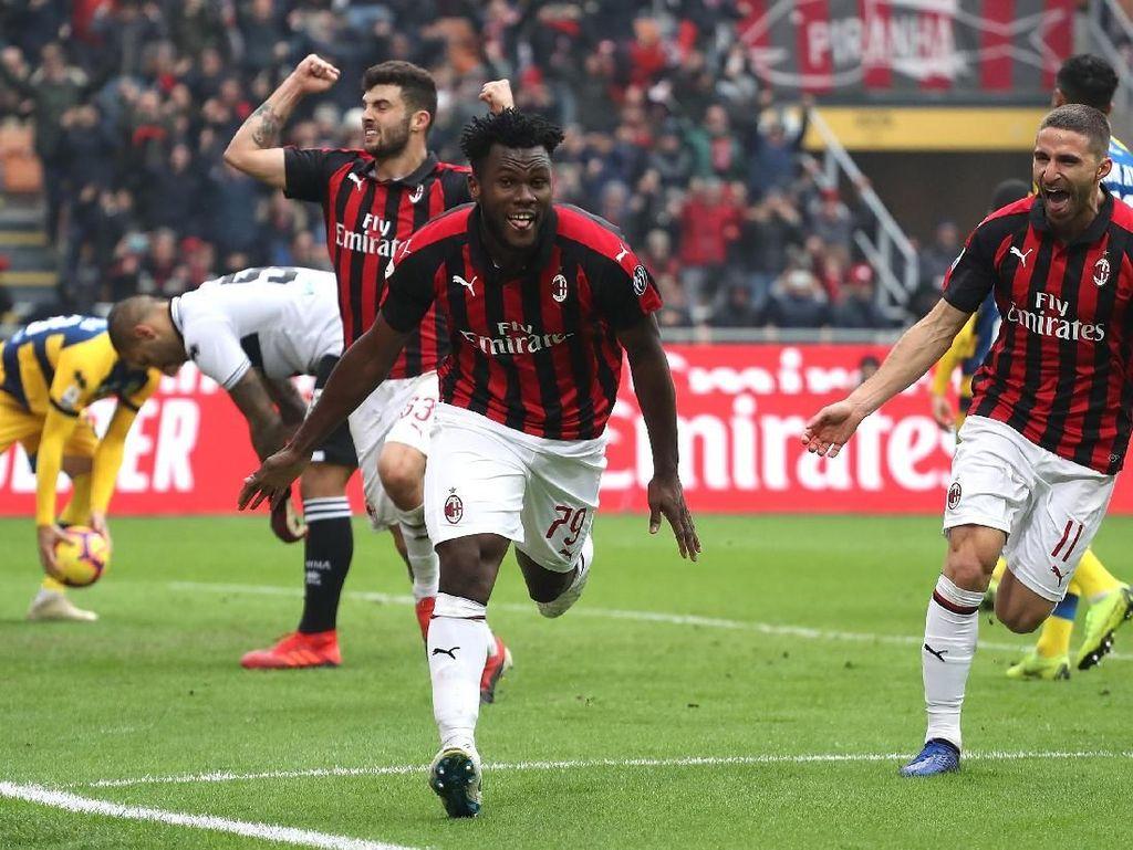 Hasil Liga Italia: Comeback, AC Milan Kalahkan Parma 2-1