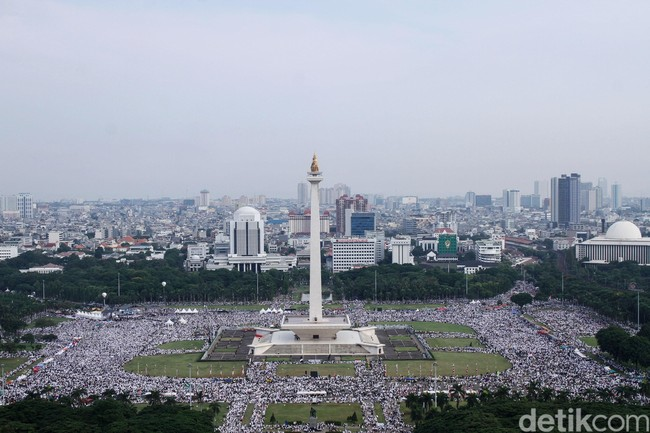 Foto Reuni Akbar Mujahid Aksi 212 dari Langit Monas