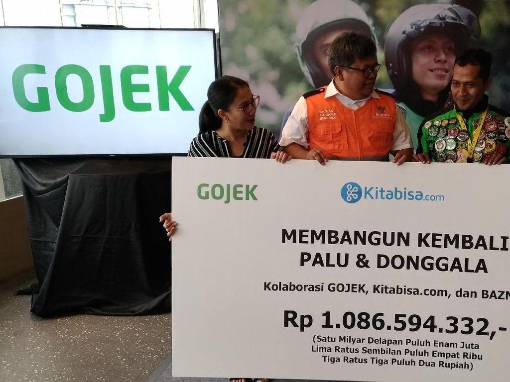 Belasan Ribu Pemakai Go-Pay Sumbang Korban Gempa Palu Rp 1 M
