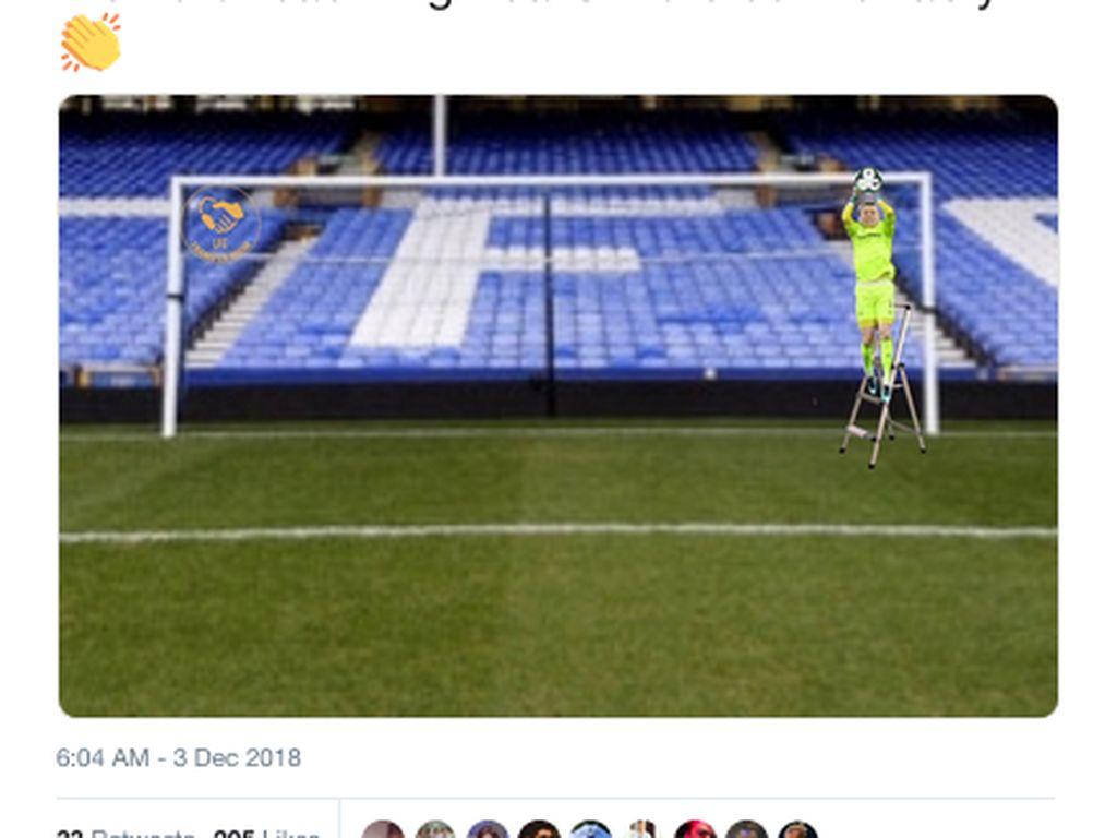 Meme Derby Merseyside: Blunder Pickford, Lari Heboh Klopp
