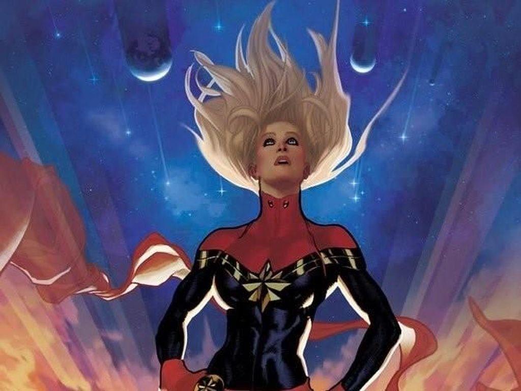 Tampilan Carol Danvers Berubah di Komik Captain Marvel