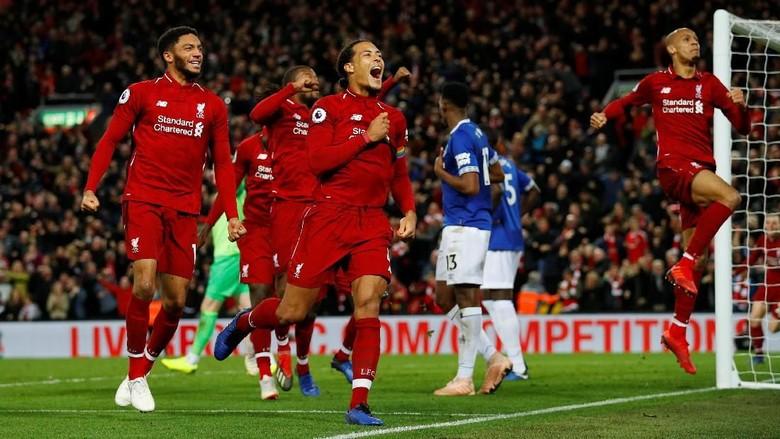 Hasil Liga Inggris: Dramatis, Liverpool Kalahkan Everton 1-0