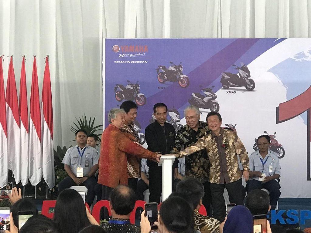 Soal Yel-yel Nomor 1 di Depan Jokowi, Ini Kata Bos Yamaha