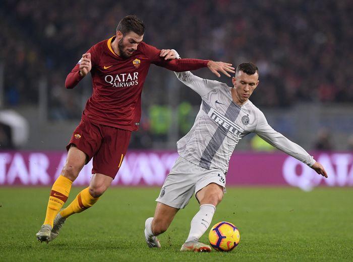 Tidak ada pemenang dalam laga antara AS Roma vs Inter Milan. REUTERS/Alberto Lingria.