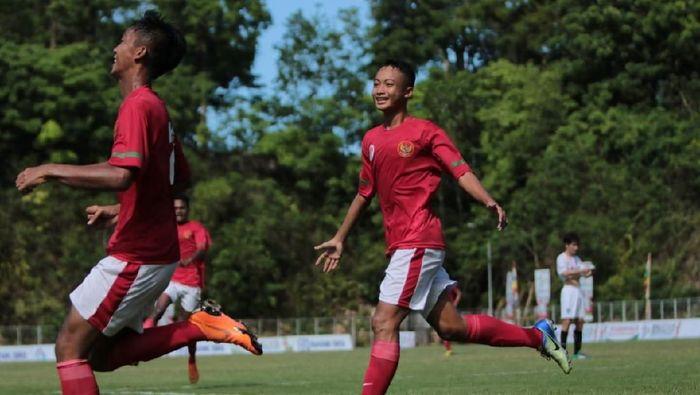 Timnas Pelajar U-15 Indonesia lolos ke semifinal Bali International Football Championship 2018dok.Kemenpora
