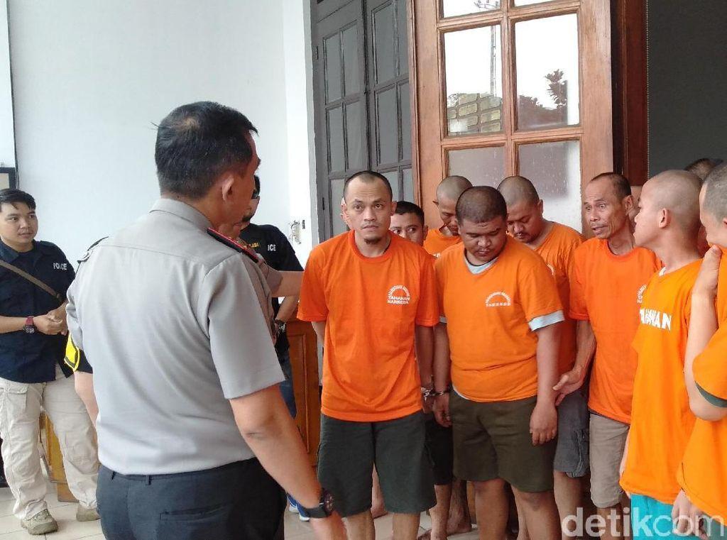 Akhir Tahun, 23 Pria di Bandung Penyalahgunaan Narkotik Ditangkap