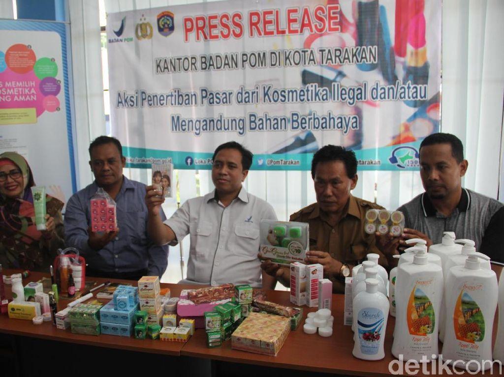 Ribuan Kosmetik Ilegal dari Malaysia-Taiwan Diamankan di Tarakan
