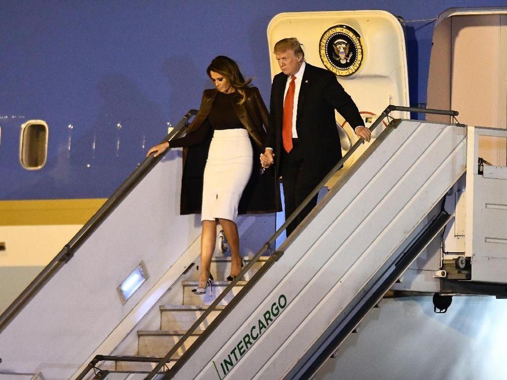 Donald Trump Kunjungi Militer AS di Irak