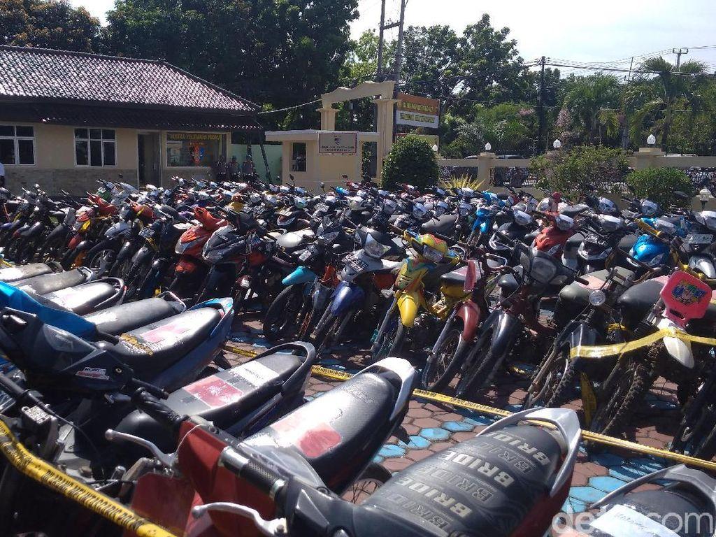 312 Motor Curian Dipamerkan di Mapolres Indramayu