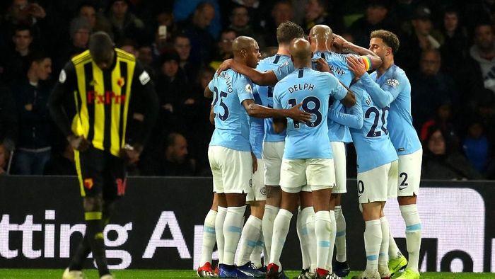 Manchester City menang 2-1 atas Watford. (Foto: Catherine Ivill/Getty Images)