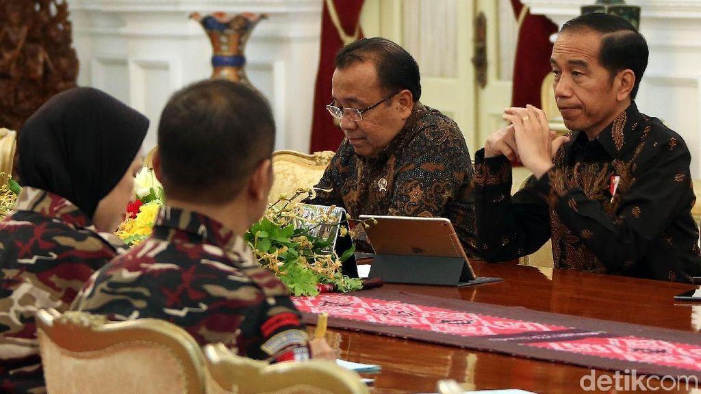 Jokowi Sambut FKPPI di Istana