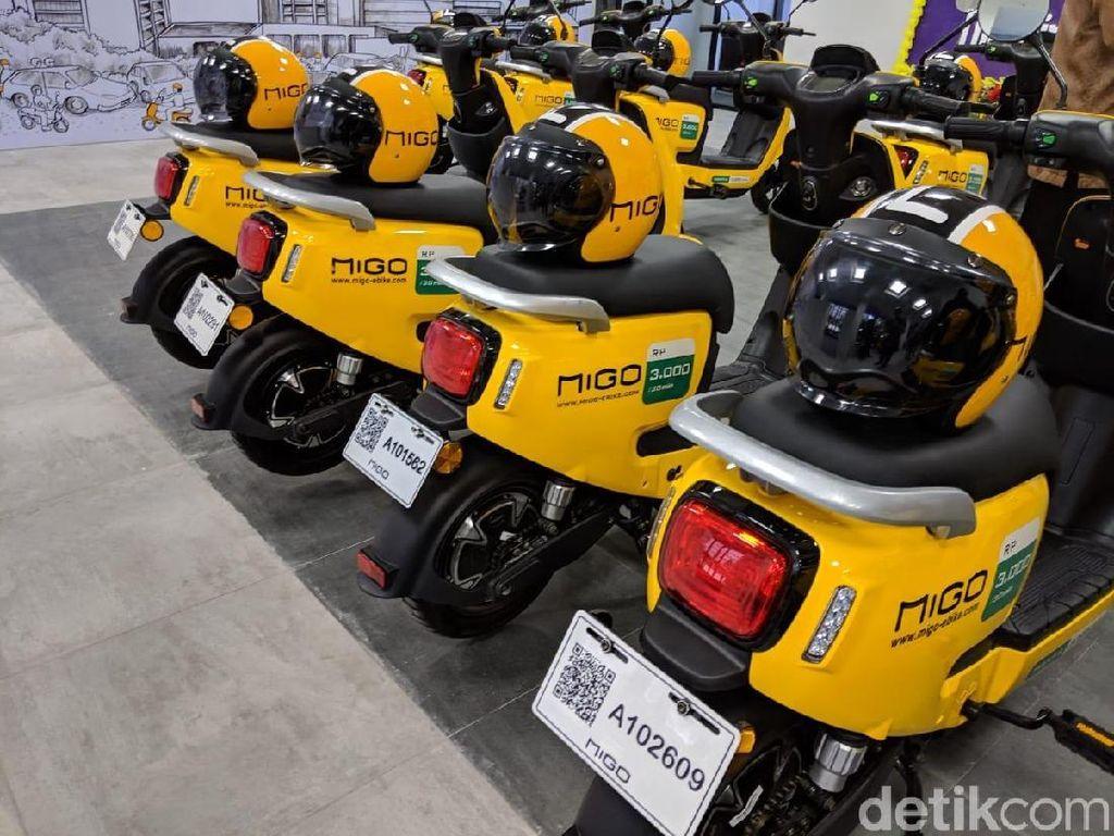 Kuning-kuning, Cerahnya Sepeda Listrik Bertarif Sewa Rp 6.000 Per Jam