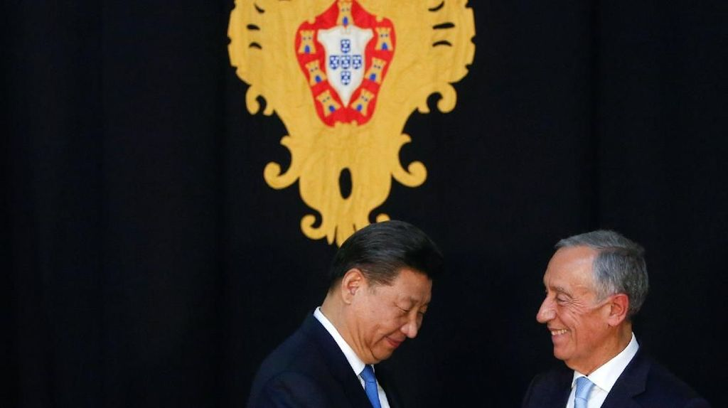 Potret Presiden China Xi Jinping Kunjungi Portugal