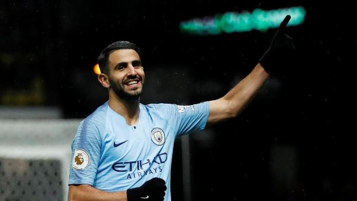Riyad Mahrez tak gentar dengan persaingan internal Manchester City. (Foto: Andrew Boyers/Action Images via Reuters)