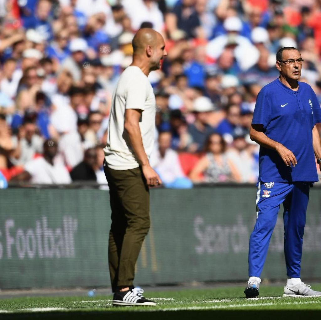 Head to Head Sarri vs Guardiola, Siapa Unggul?
