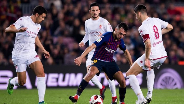 Barcelona lolos ke babak 16 besar Copa del Rey. (Foto: Alex Caparros/Getty Images)