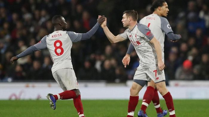 Liverpool saat melawan Burnley. (Foto: Scott Heppell/Reuters)