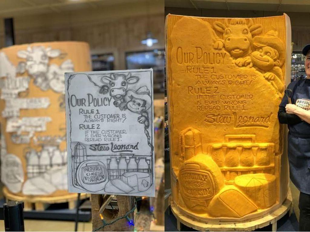 Akan Jadi Rekor Baru, Pahatan Patung Keju Ini Didaftarkan Guinness World Records