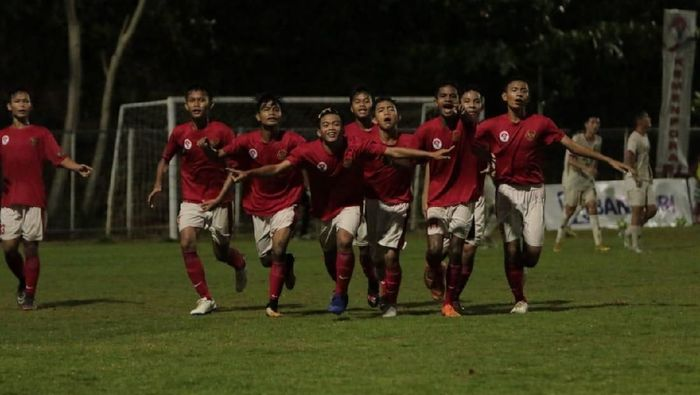 Timnas Pelajar U-15 Indonesia lolos ke final Bali International Football Championship 2018dok.Kemenpora