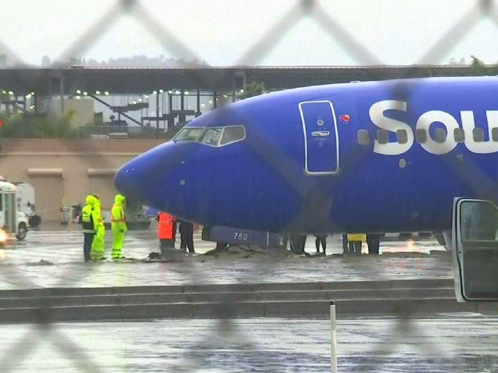 Bawa 112 Penumpang, Pesawat Southwest Tergelincir di Burbank