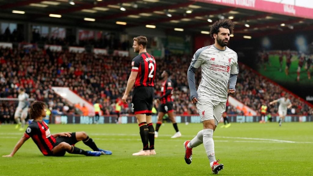 Mohamed Salah Hat-trick, Liverpool Hantam Bournemouth 4-0