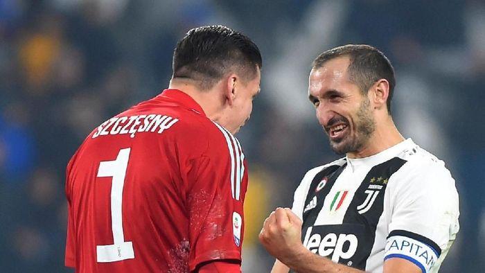 Usai kemenangan atas Inter Milan, Leonardo Bonucci menyebut Juventus bisa mengalahkan siapa saja (REUTERS/Massimo Pinca)