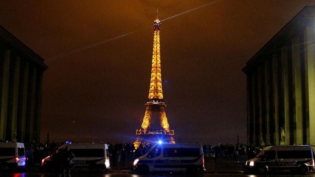 Penjagaan Ketat Menara Eiffel Jelang Demo Susulan di Paris