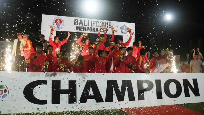 Bara FC juara Bali IFC Piala Menpora 2018 usai kalahkan Timnas Pelajar U-15 (dok.Kemenpora)