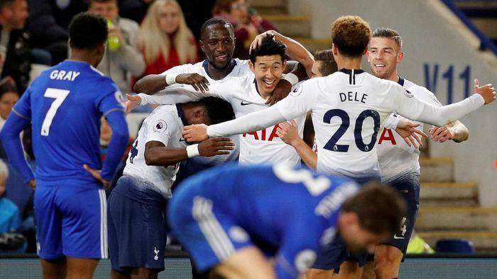 Tottenham Hotspur menang 2-0 di kandang Leicester City (Darren Staples/Reuters)
