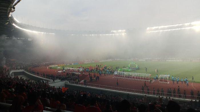 Suasana Gelora Bung Karno setelah Persija Jakarta juara Liga 1 2018. (Foto: Yanu Arifin/Detikcom)