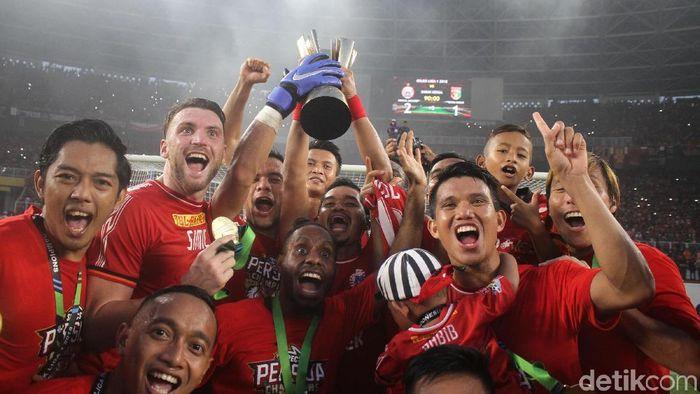 Persija Jakarta keluar sebagai juara Liga 1 2018. (Foto: Rifkianto Nugroho/detikSport)