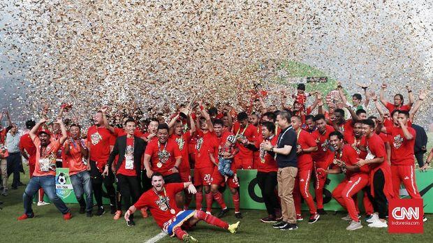 Persija Jakarta meraih gelar juara Liga 1 2018.