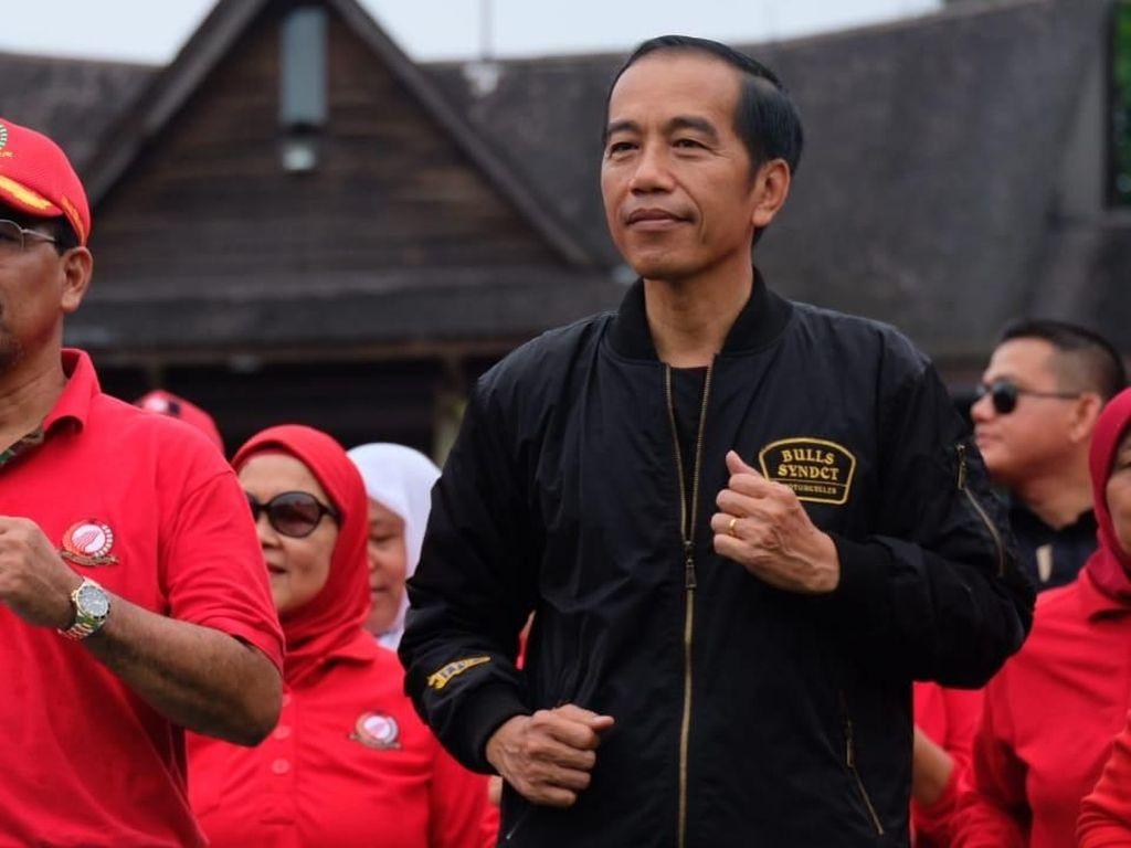 Jokowi Senam Bareng Terawan dan Terawati se-Indonesia di Bogor