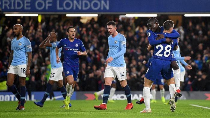 Manchester City akhirnya kalah di Liga Inggris usai ditumbangkan Chelsea (Foto: Shaun Botterill/Getty Images)