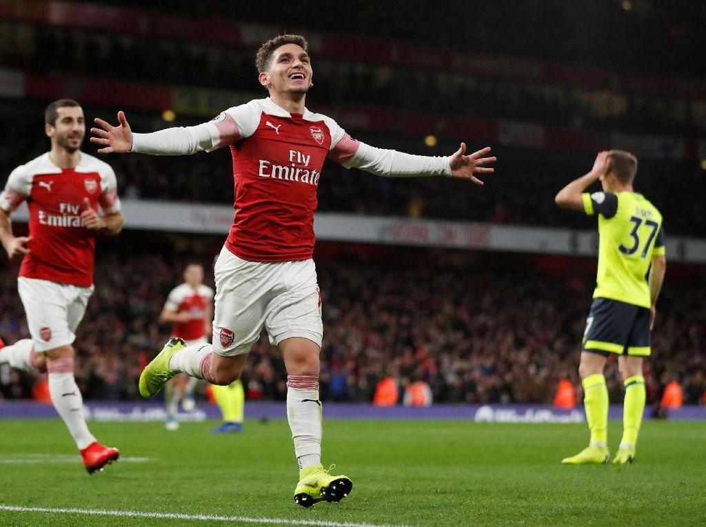 Hasil Liga Inggris: Arsenal Susah Payah Kalahkan Huddersfield