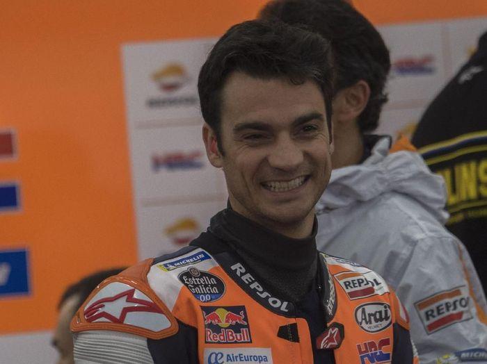 Dani Pedrosa dihadiahi dua motor balapnya oleh Honda. (Foto: Mirco Lazzari gp/Getty Images)